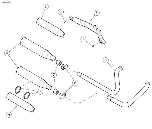 0 Screamin Eagle Street Cannon Slip On Muffler Kits