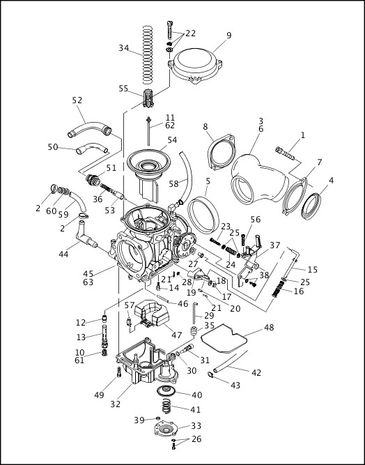Circuit Electric For Guide  2007 Harley 883 Sportster Engine Parts Diagram