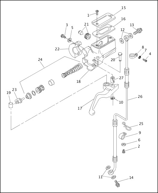 1994 harley front brake schematic