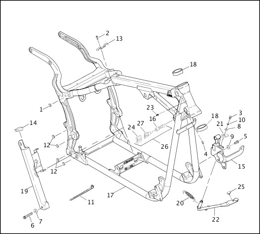 harley jiffy stand diagram  diagram  auto parts catalog