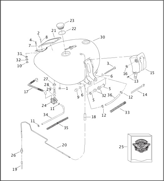harley davidson oil tank diagram