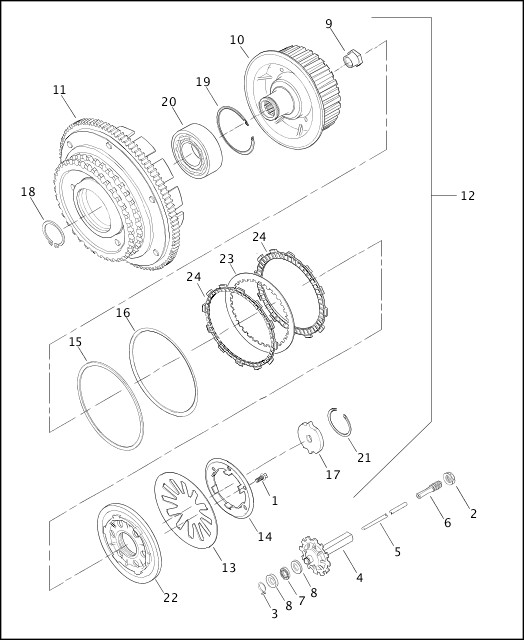 Harley Clutch Diagram