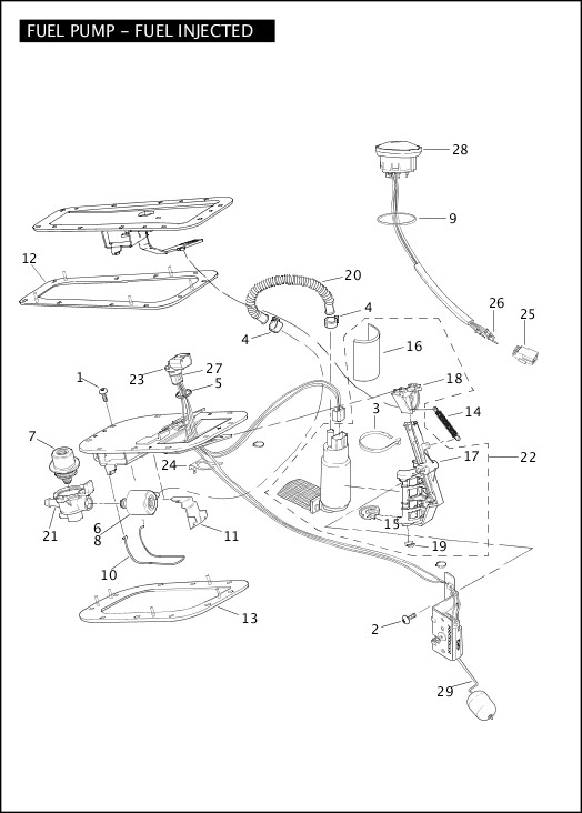 harley fuel injection parts diagram
