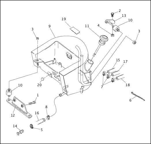 2005 softail oil tank schematic