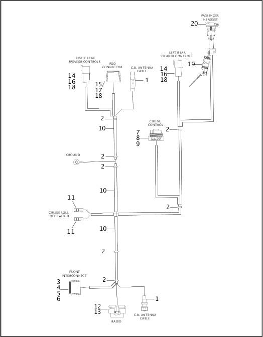Harley Davidson Handlebar Control Switch Housing Touring 71567-96 Upper Left