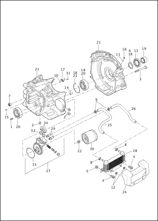 harley twin cam crankcase diagram