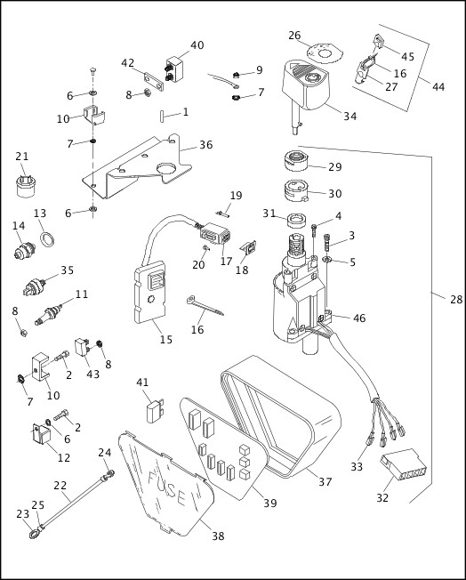 harley ignition module wiring harnes