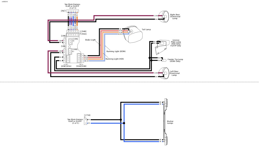 taillight wiring diagram for harley