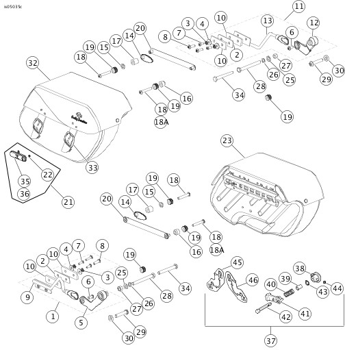 Harley Saddlebag Parts Diagram Diagram Auto Wiring Diagram