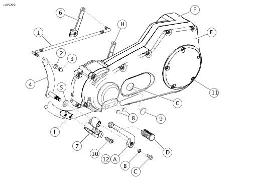 99455 83c 1971 1984 harley davidson fx parts manual