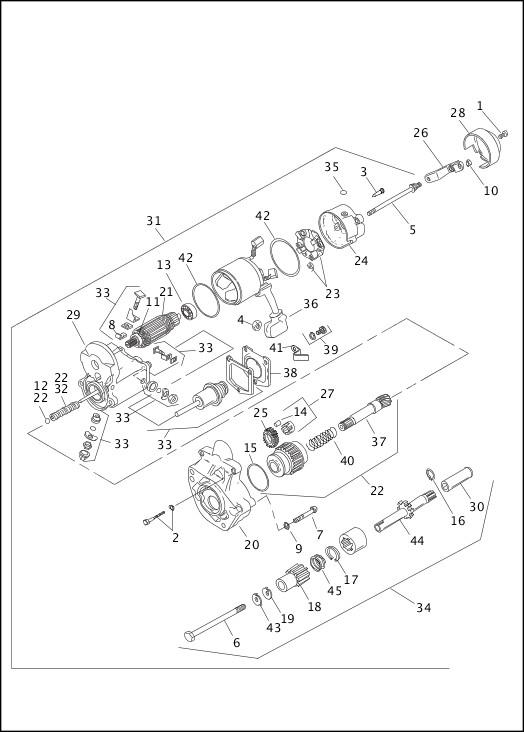 Eastern Motorcycle Parts Piston Pin Retaining Ring EVO BT,XLA-22589-83A
