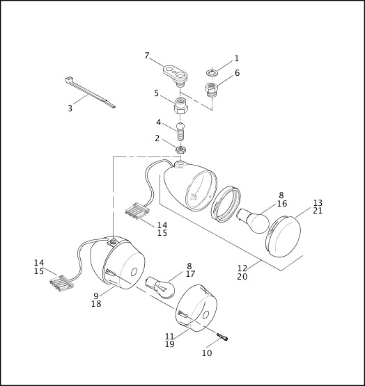 OEM No 34977-00A Genuine Harley-Davidson Motor Parts Spring Shift Arm