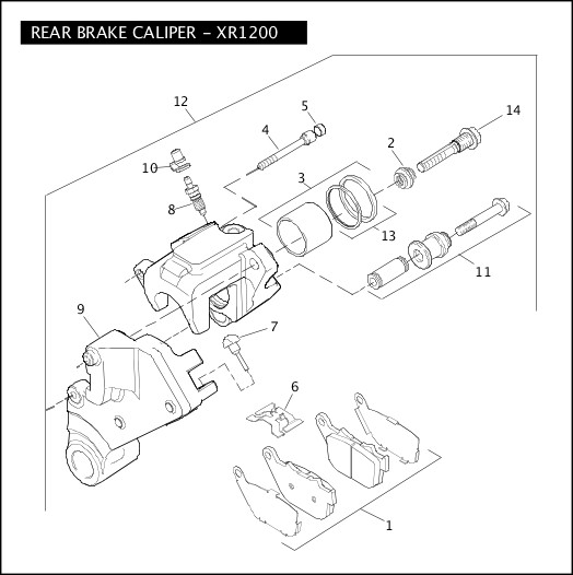 Harley Sportster Rear Caliper Diagram